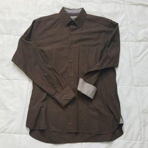 Johnston & Murphy Dress Shirt Men's L Flip Cuff